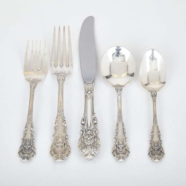 American Silver 'Sir Christopher' Pattern Flatware Service, Wallace Silversmiths, Wallingford, Ct., 20th century