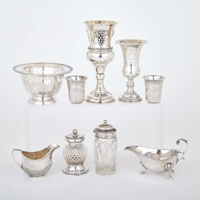 Grouped Lot of English, Continental and Canadian Silver, 19th/20th century