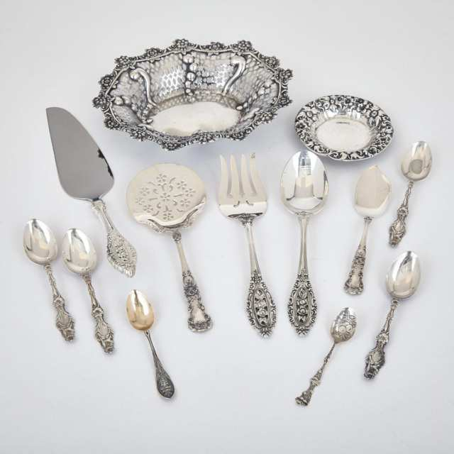 Grouped Lot of Victorian and Later North American Silver, late 19th/20th century