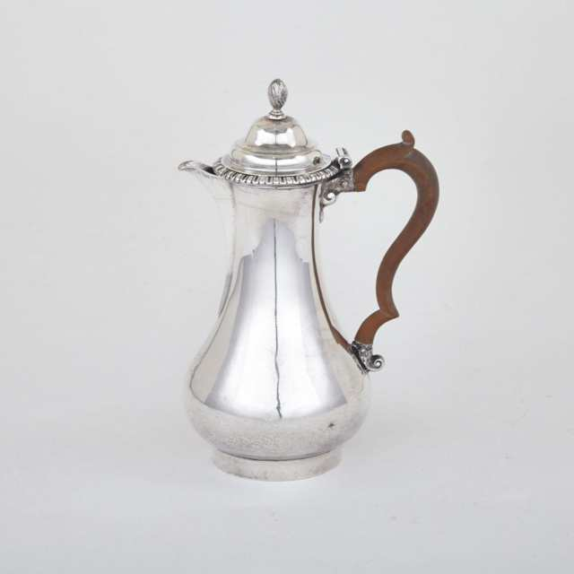 George III Silver Hot Water Pot, Thomas Whipham & Charles Wright, London, 1764