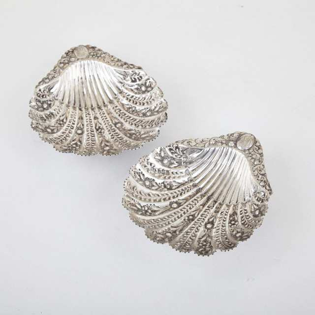 Pair of Victorian Silver Shell Dishes, Atkin Bros., Sheffield, 1891