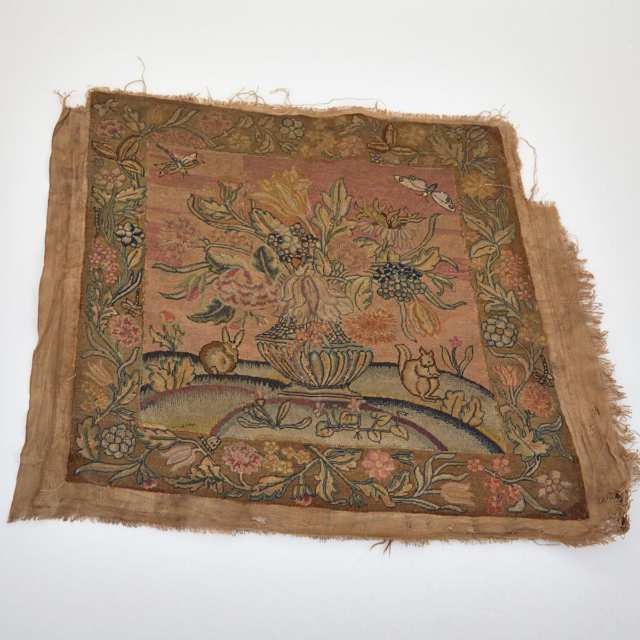 Pair of Needlework Upholstery Panels, late 17th/early 18th century