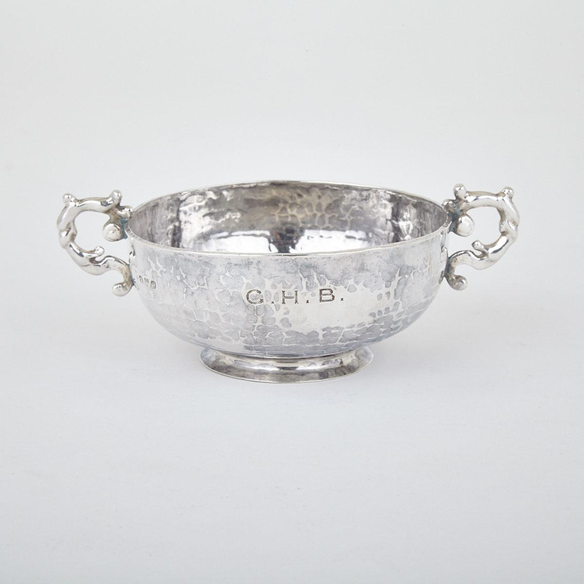 Late Victorian Silver Two-Handled Small Bowl, Nathan & Hayes, Chester, 1897