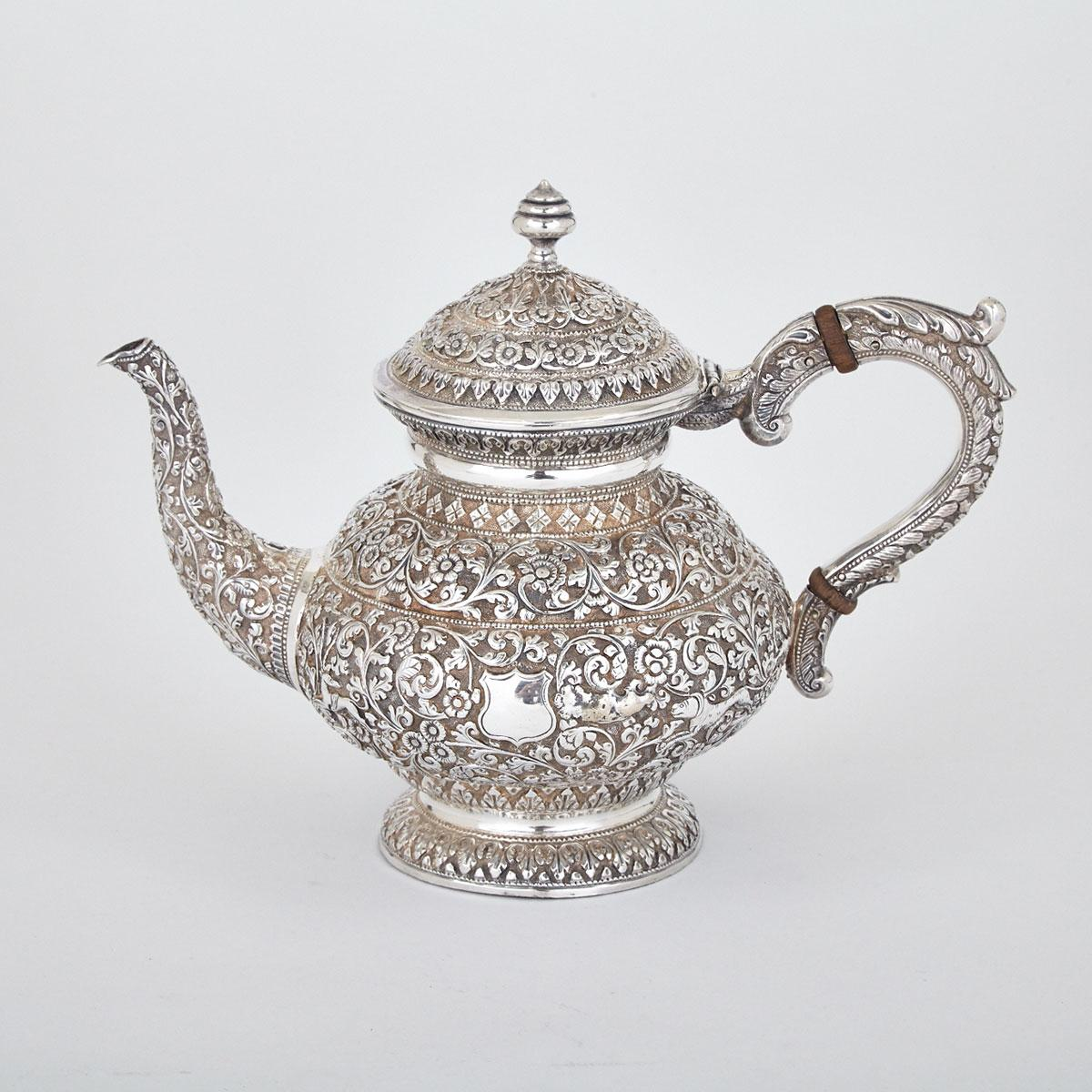 Indian Silver Teapot, late 19th century