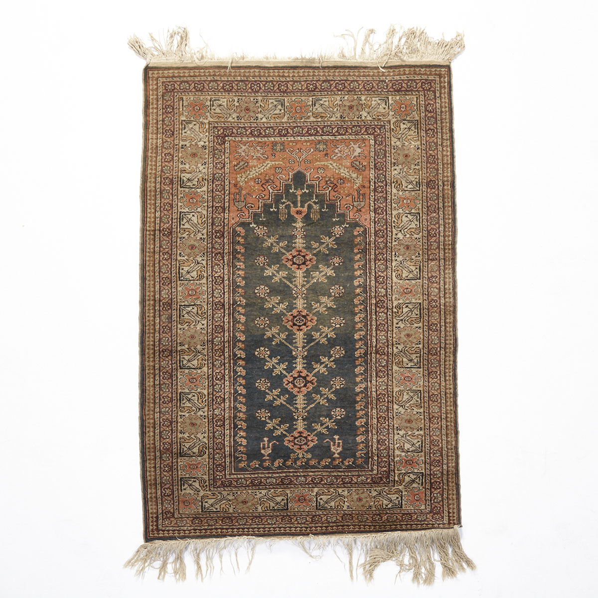 Indian Prayer Design Rug, c.1920