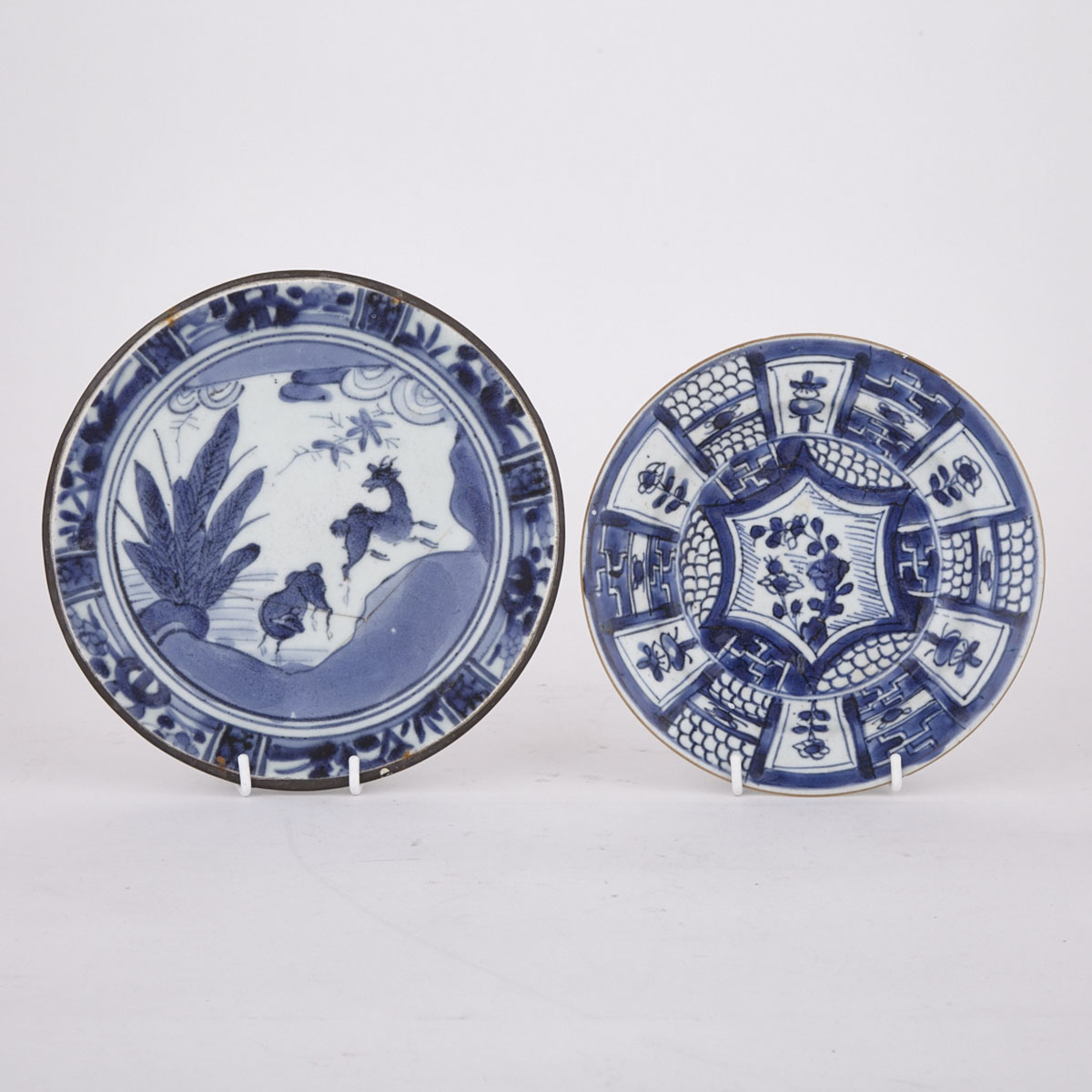 Two Export Blue and White Dishes, 16th/17th Century