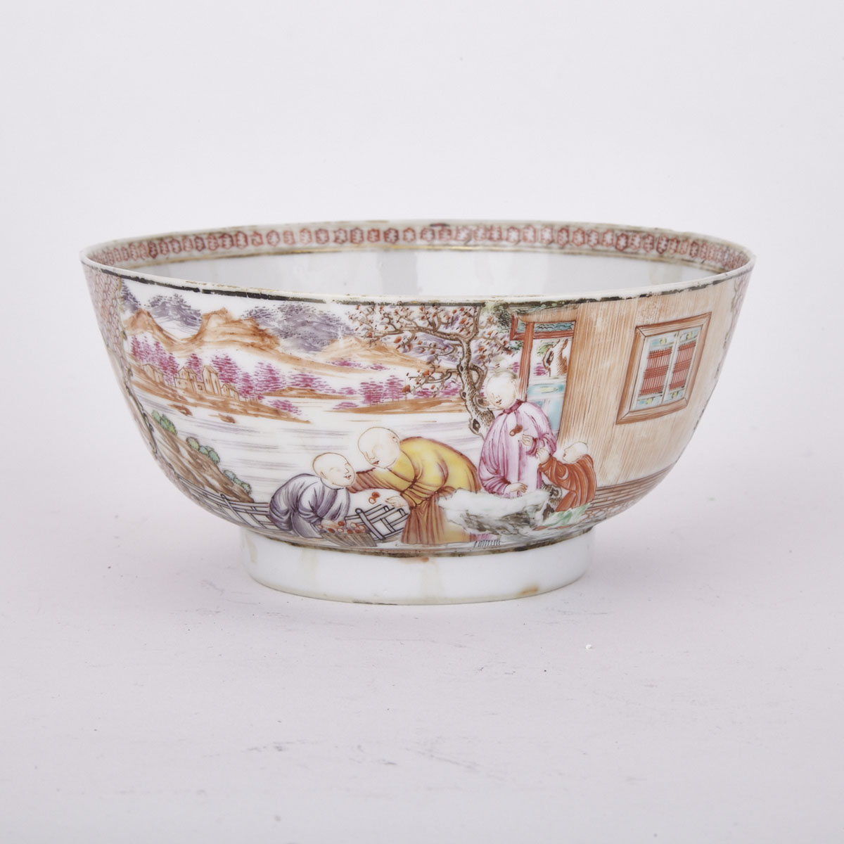 Export Famille Rose Bowl, 18th Century