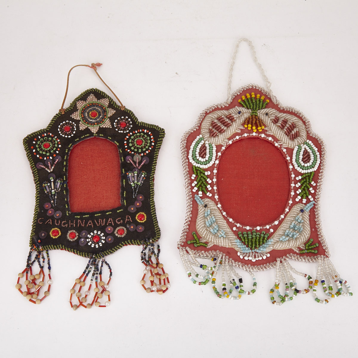 Two Iroquois Beaded Frames, early 20th century