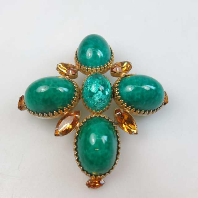 DeNicola Gold Tone Metal Brooch/Pendent