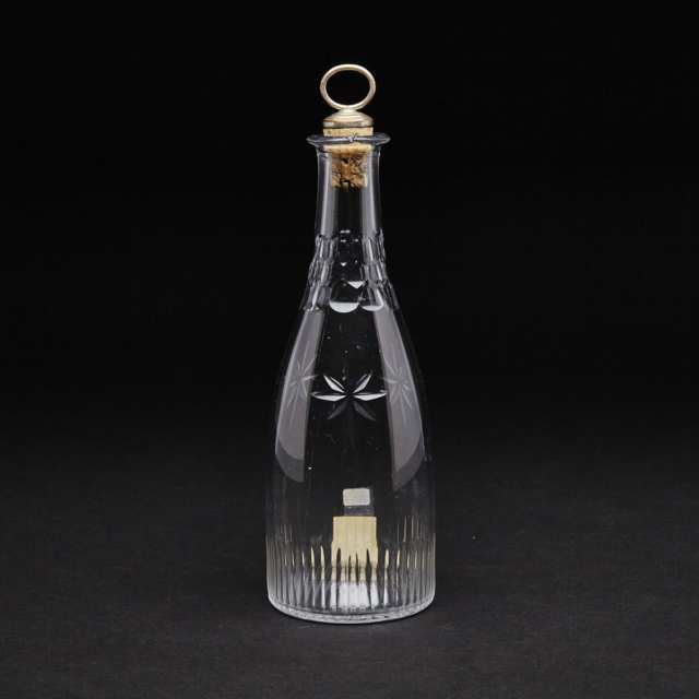 English Cut Glass Decanter, late 18th century