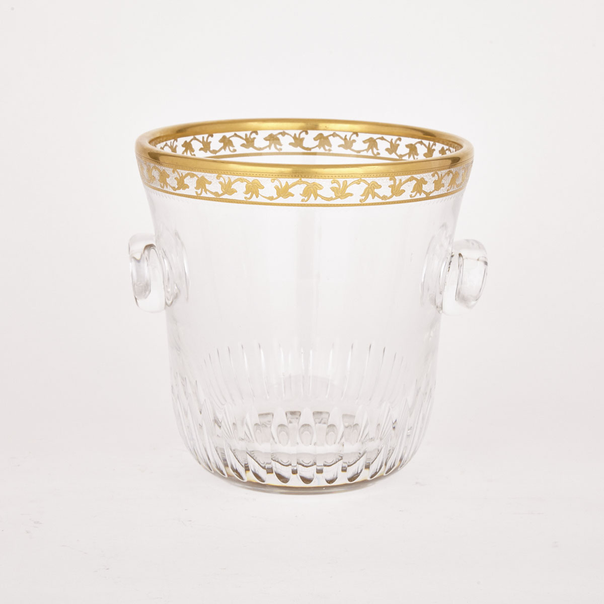 St. Louis Cut, Etched and Gilt Glass Wine Cooler, 20th century