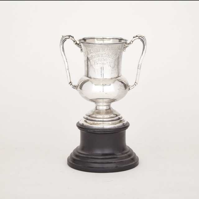 Mexican Silver Two-Handled Trophy Cup, c.1956