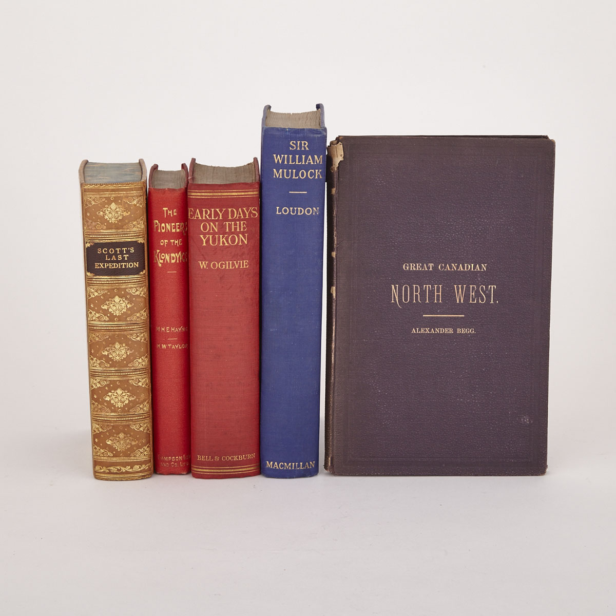 [Books-Canadian History] Five Volumes on Canadian History including William Mulock Autograph, 19th and early 20th centuries