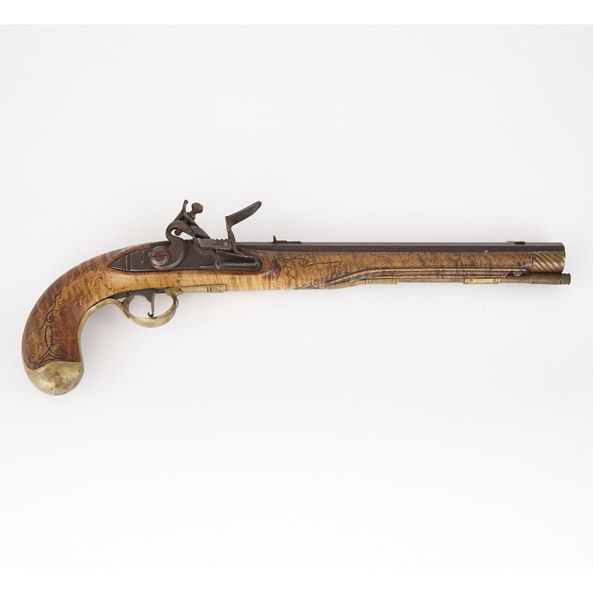 18th century Style Continental Flintlock Pistol, 20th century
