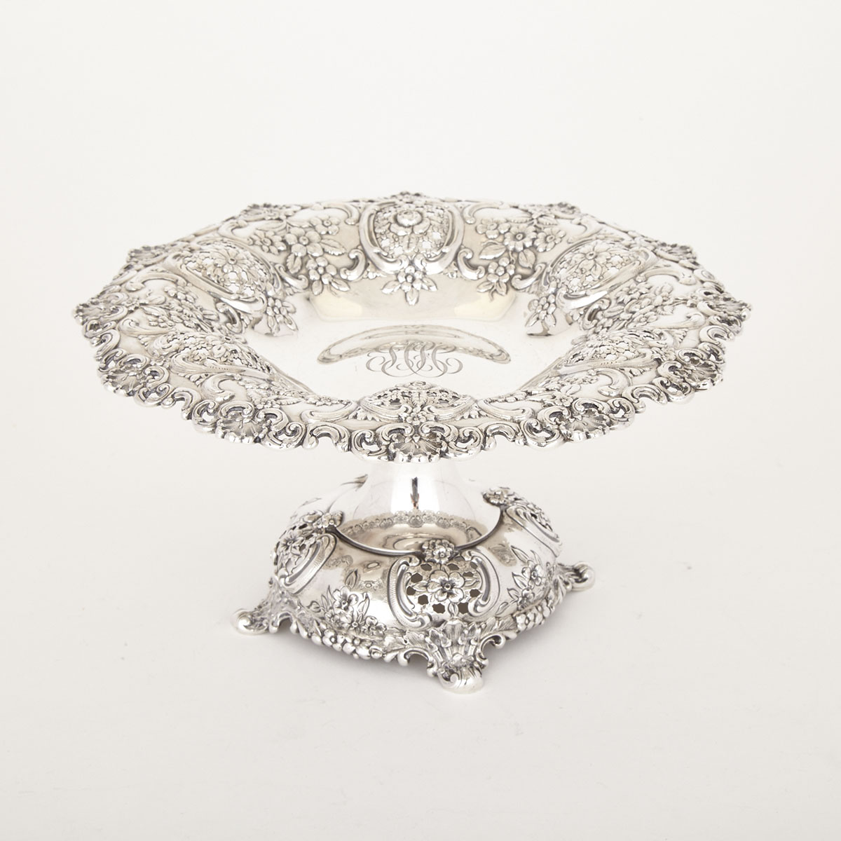 American Silver Pierced Comport, Tiffany & Co., New York, N.Y., c.1902-07