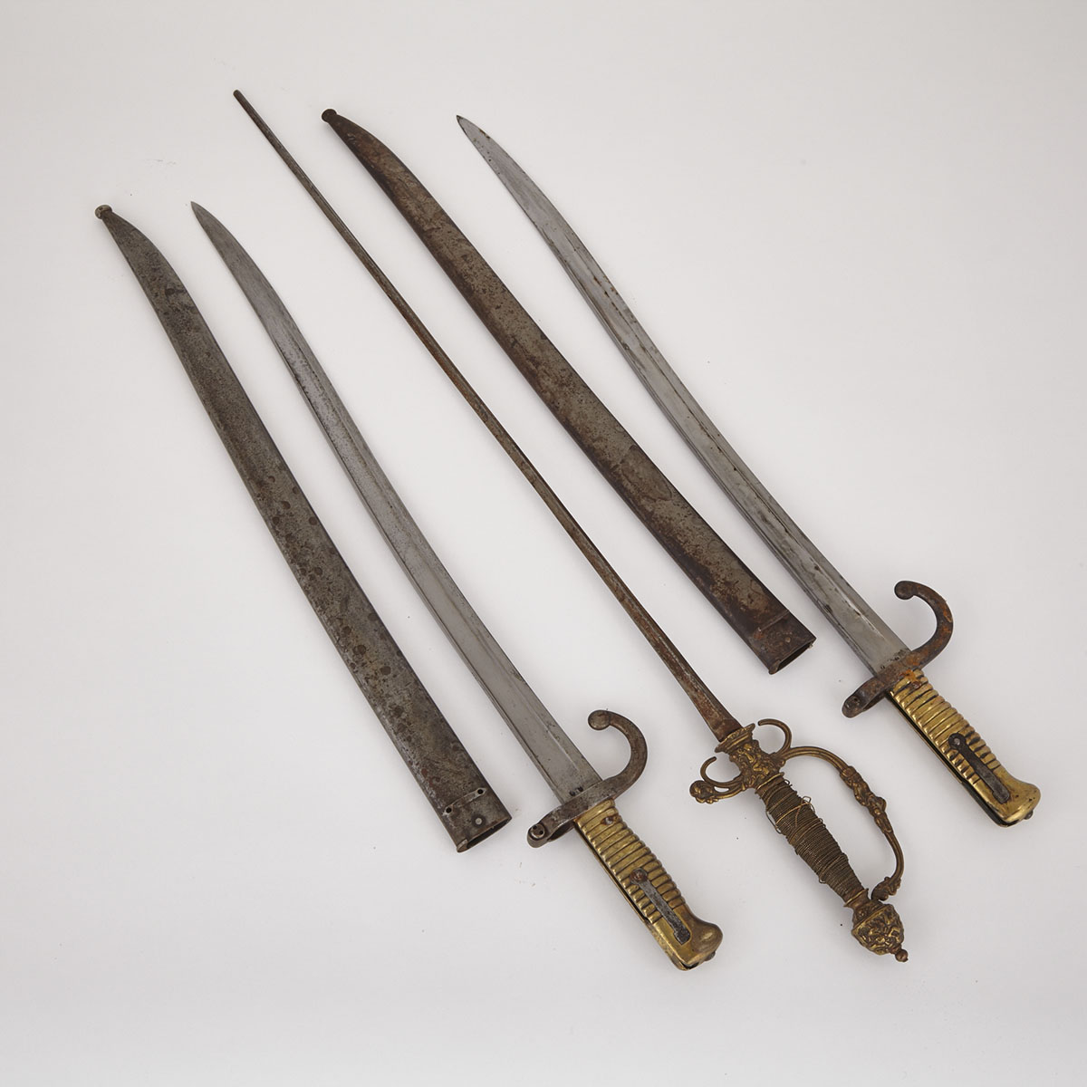 Three French Edged Weapons, 19th century