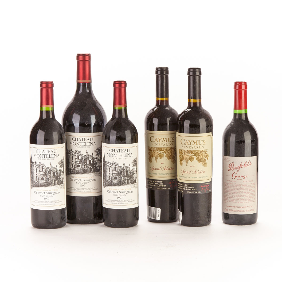 CHÂTEAU MONTELENA 1997 (1 MAG) CHÂTEAU MONTELENA 1997 (2) CAYMUS SPECIAL SELECT 1997 (2)  PENFOLDS GRANGE BIN 95 1995 (1)