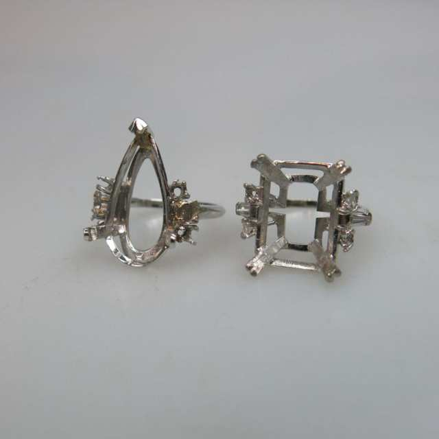 18k White Gold And Platinum Ring Mounts