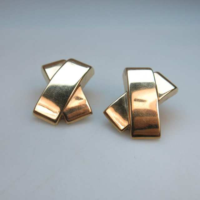 Pair Of Birks 14k Yellow Gold Earrings