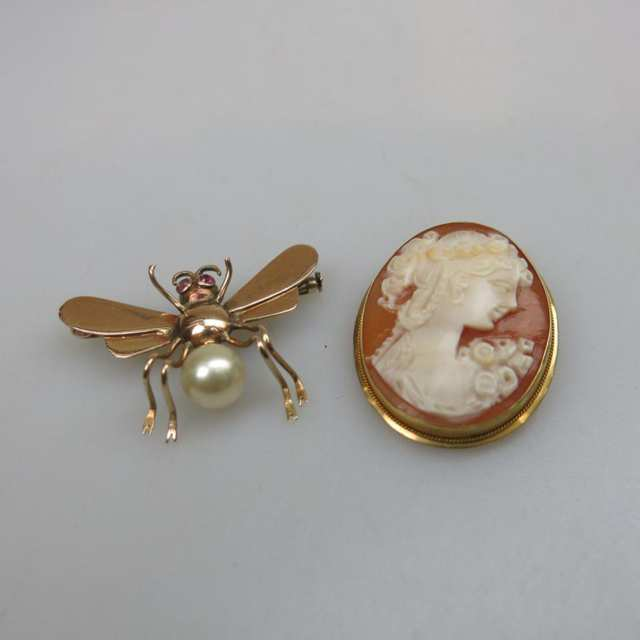 Two Yellow Gold Pins
