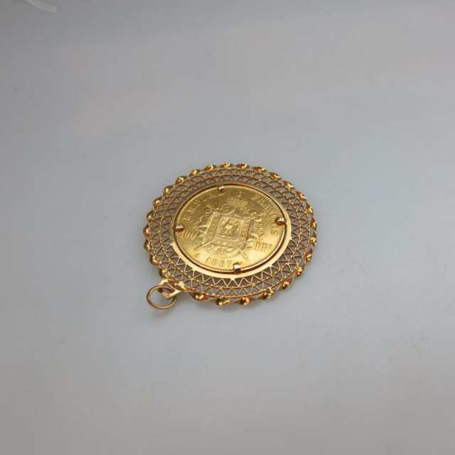 French 100 Franc 1867 Gold Coin