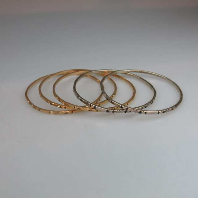 3 x 18k Yellow Gold Bangles