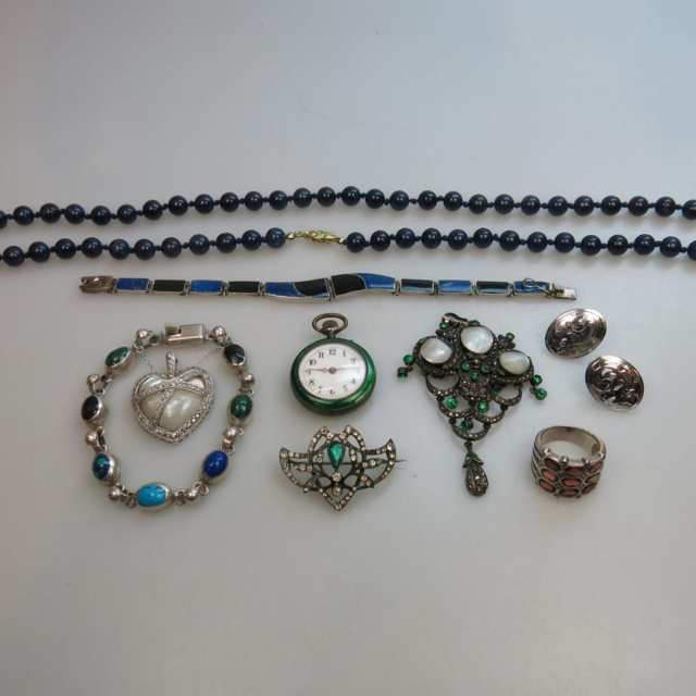 Small Quantity Of Silver Jewellery, Etc.