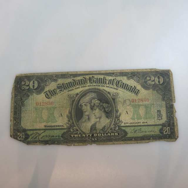 Standard Bank Of Canada 1914 $20 Bank Note