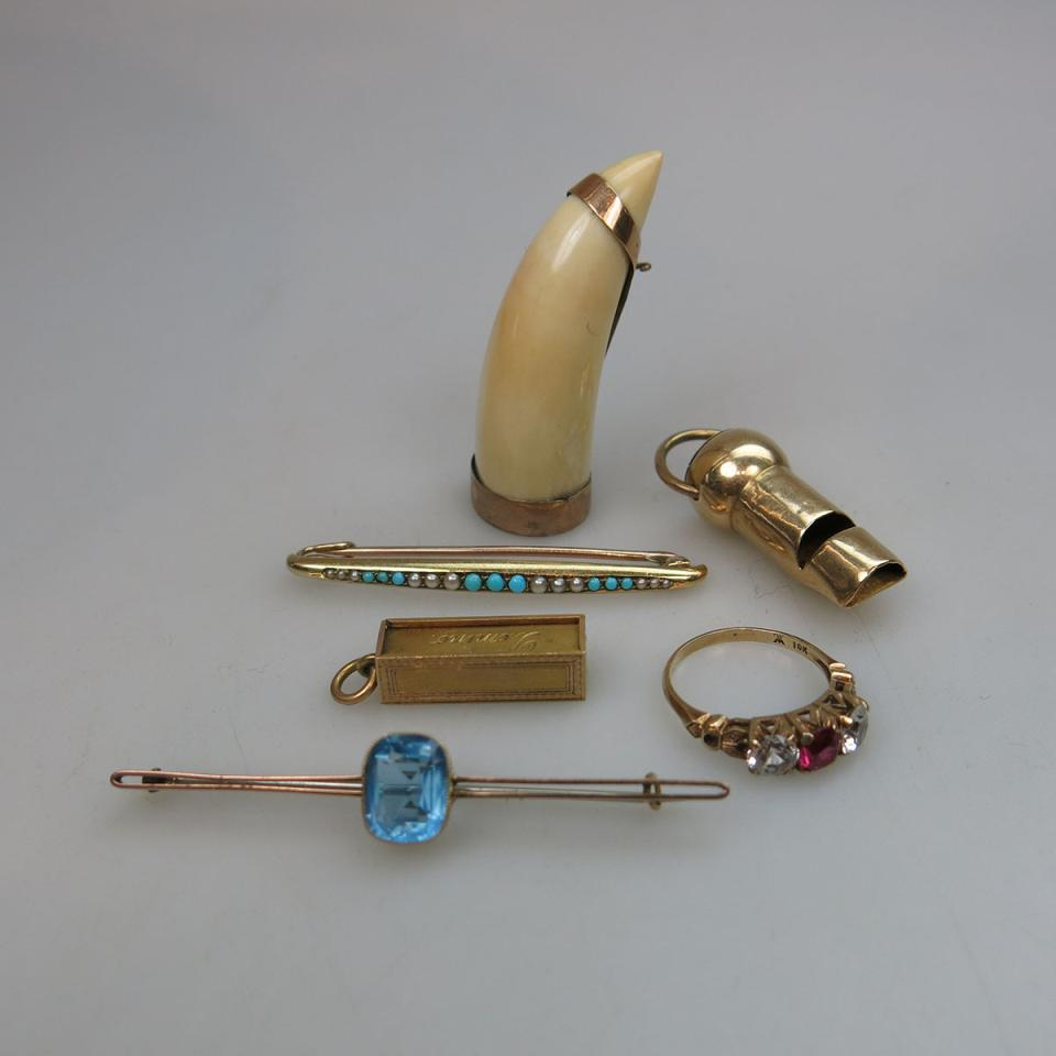 Six Pieces Of Gold Jewellery