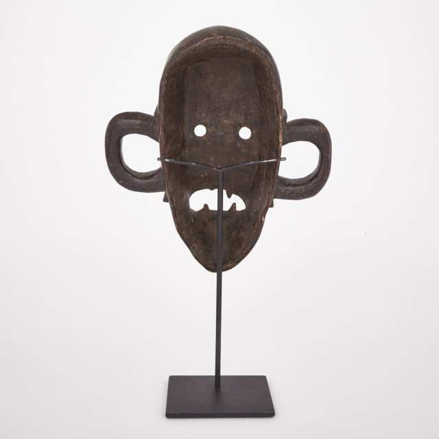 Boa Carved Wood Mask, Central Africa, 20th century