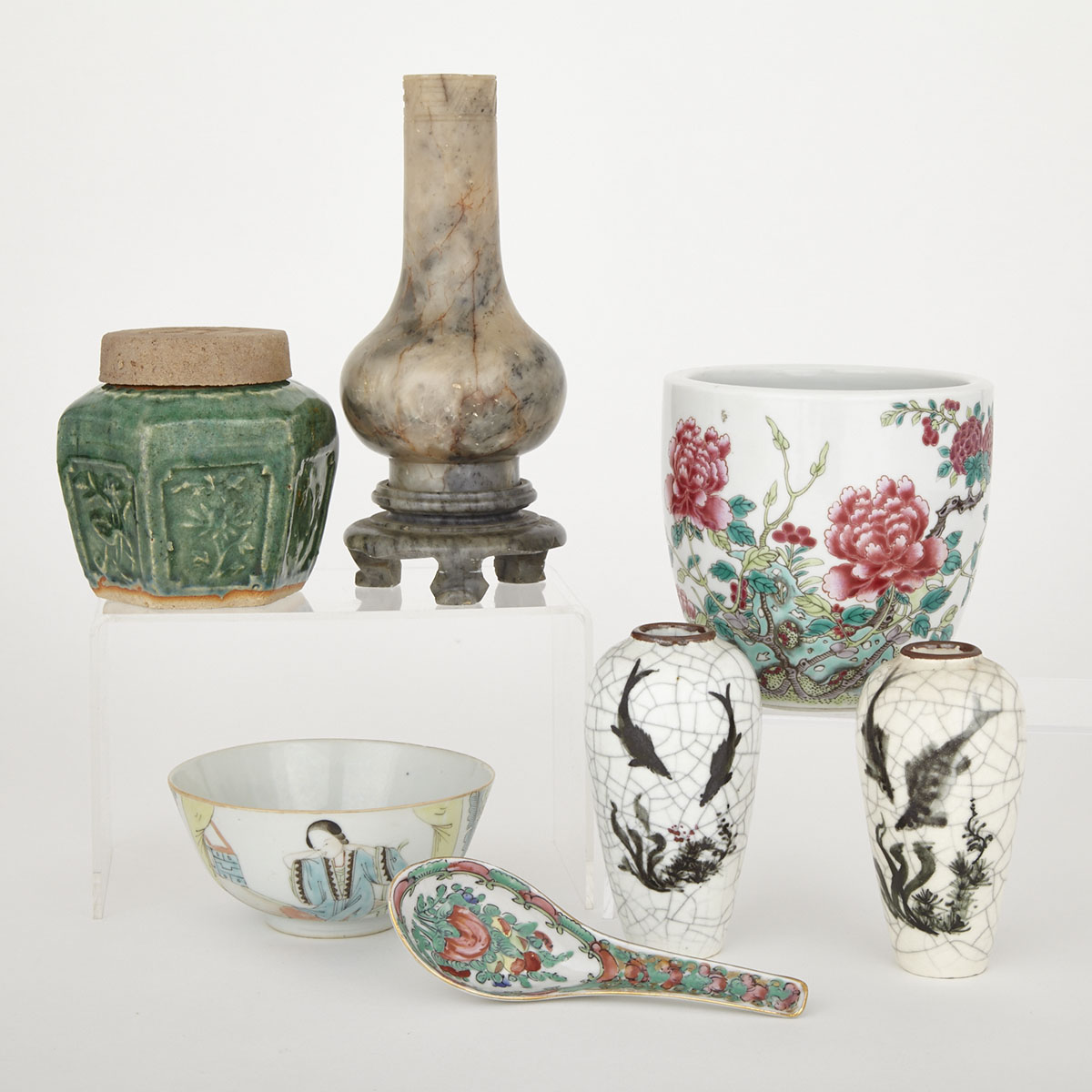 Group of Seven Asian Wares