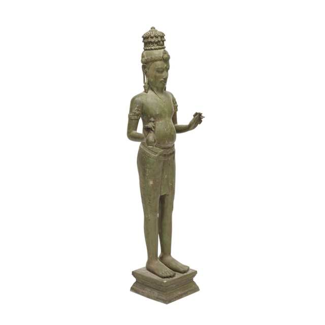 An Unusual Southeast Asian Standing Buddha, Possibly 19th Century or Earlier