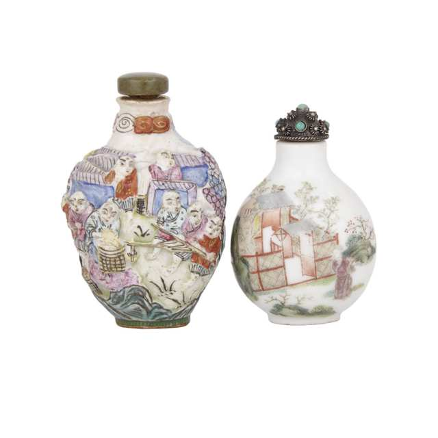 A Famille Rose Snuff Bottle, Daoguang Mark and Later