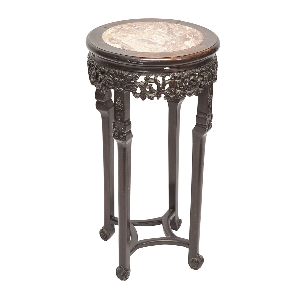 Chinese Rosewood and Marble Topped Table Circa 1900