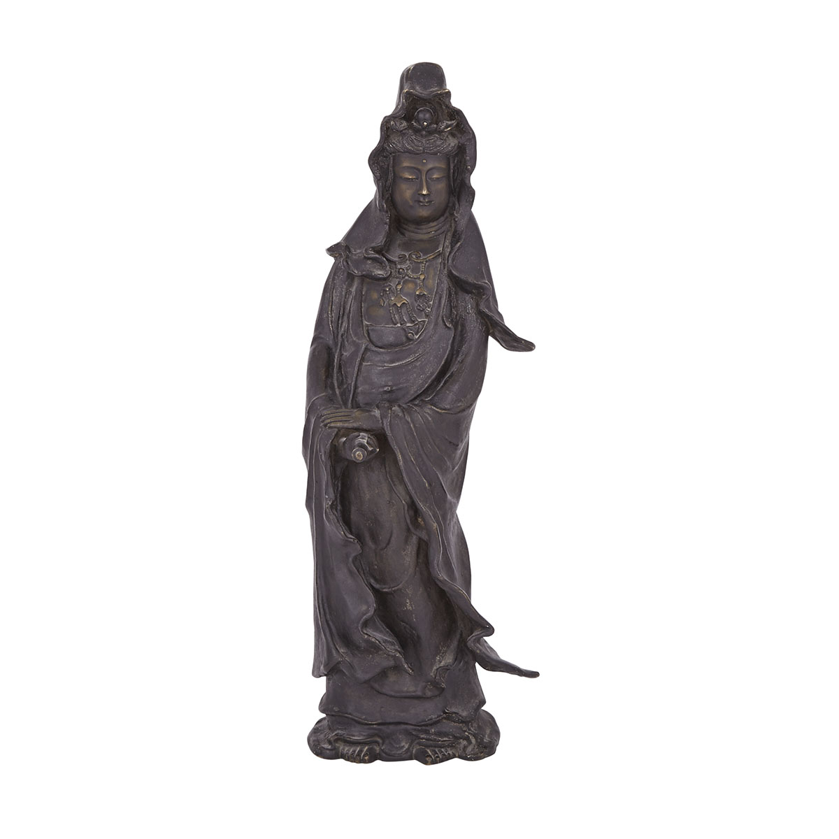 A Bronze Figure of Guanyin, Kannon, 19th/20th Century