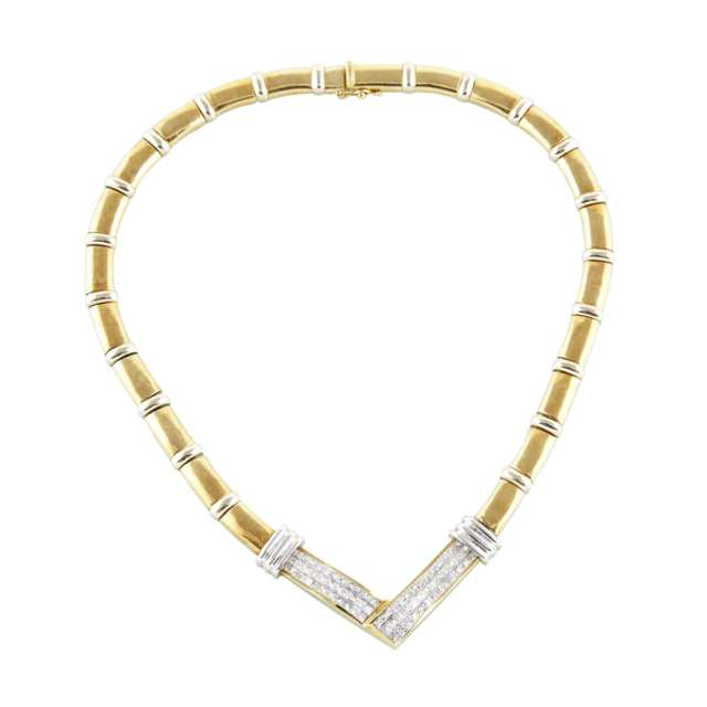 18k Yellow And White Gold Necklace