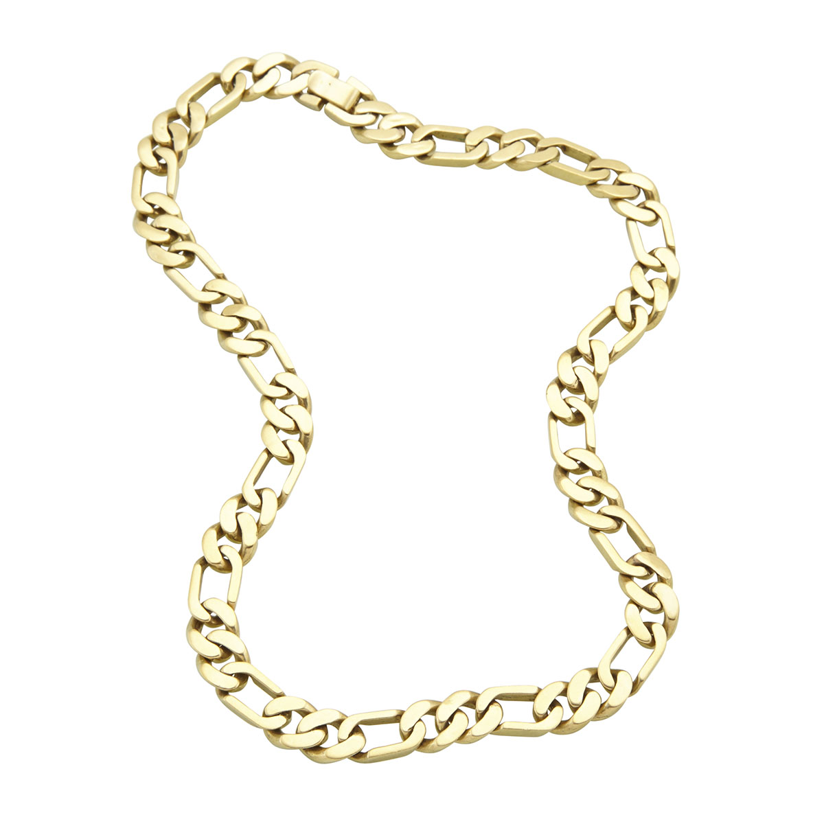 18k Yellow Gold Modified Curb Link Chain