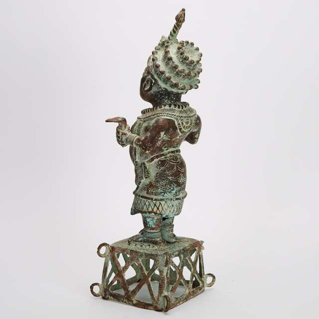 Bronze Ife Statue of a Oni (king), Nigeria, West Africa