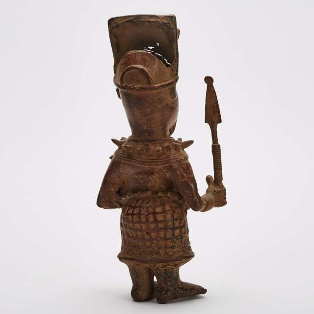 Benin Bronze Court Figure, Nigeria, West Africa