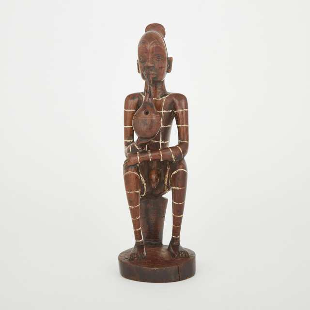 Mangbetu Seated Figure, Democratic Republic of Congo, Central Africa