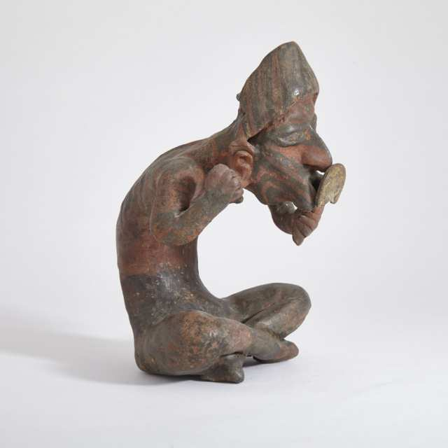 Nayarit Pottery Figure of a Diseased Male, Proto-Classic Period, 100 B.C. - 250 A.D.