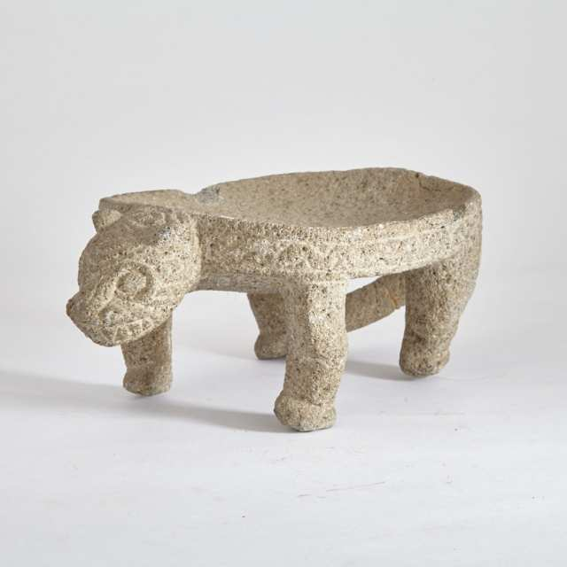 Guanacaste Nicoya Peninsula Jaguar Form Metate, 800-1200 A.D.