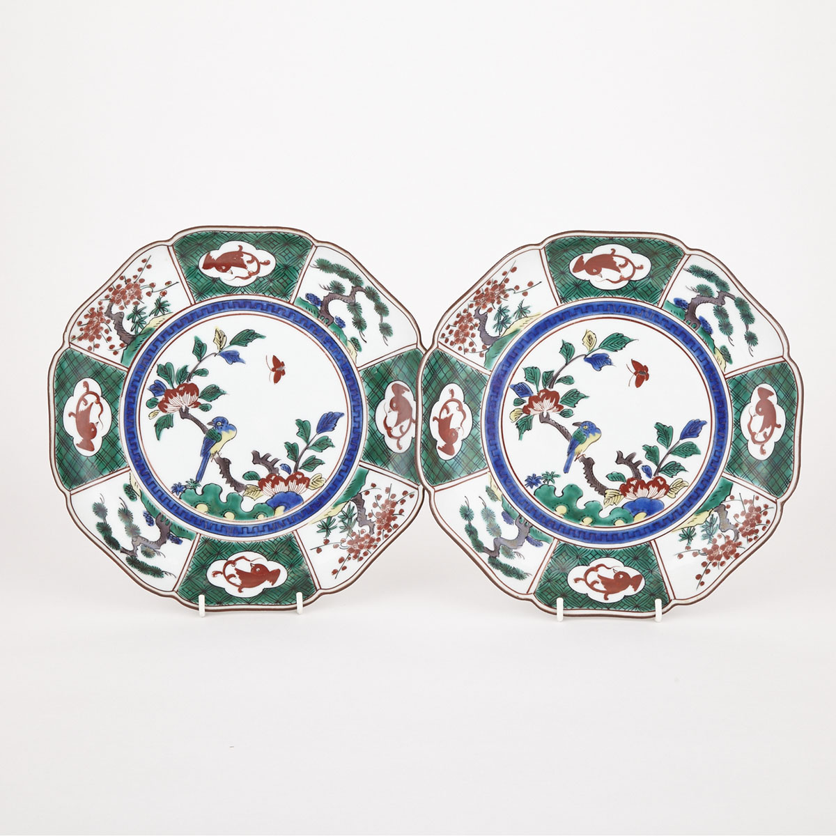 Pair of Fu Plates, First Half of 20th Century