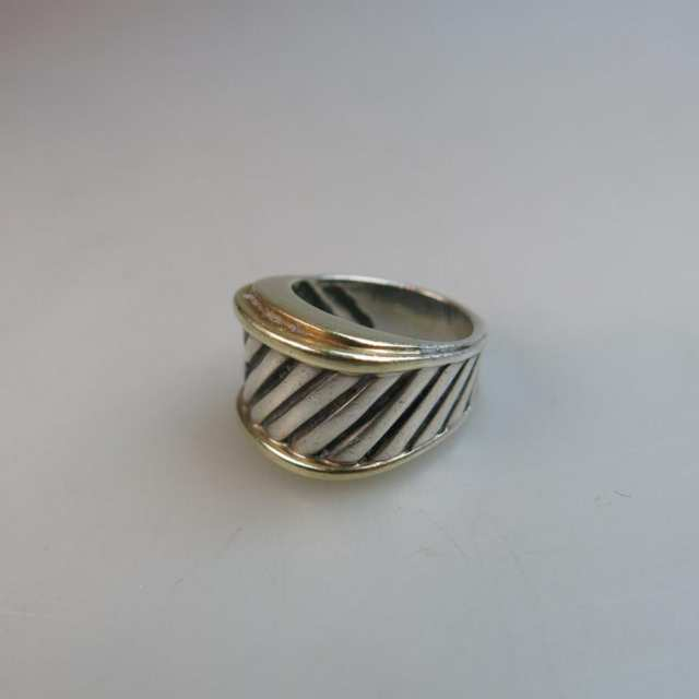 David Yurman Yellow Gold And Silver Cable Ring
