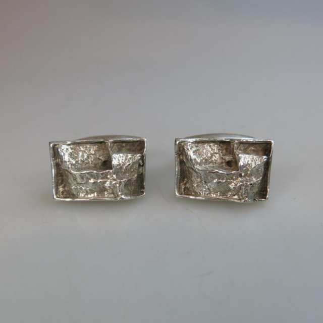 Pair Of Swedish Sterling Silver Cufflinks