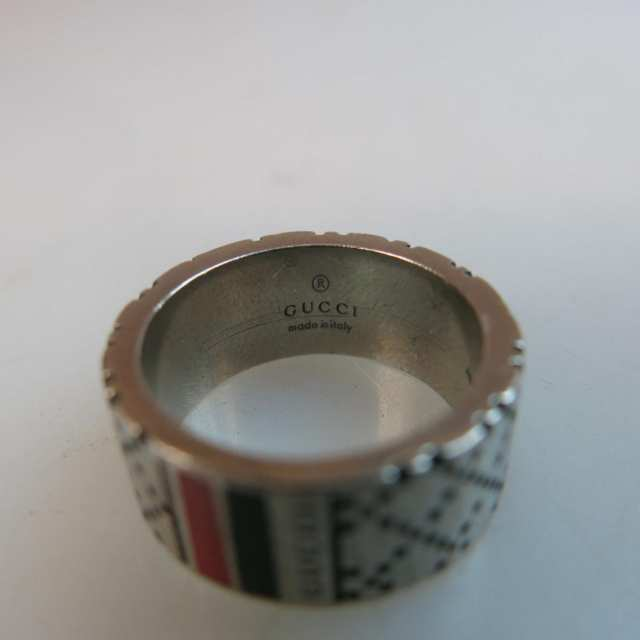 Gucci Sterling Silver Diamantissma RIng