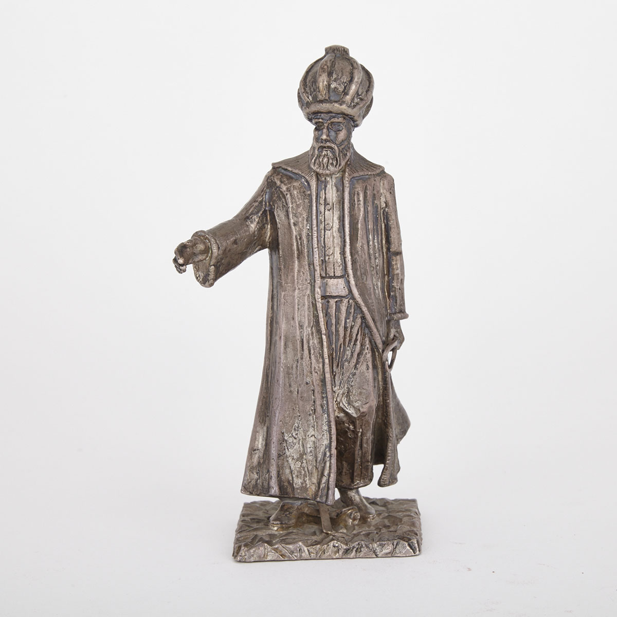 Silver Figure of Suleiman, Turkey, 19th Century