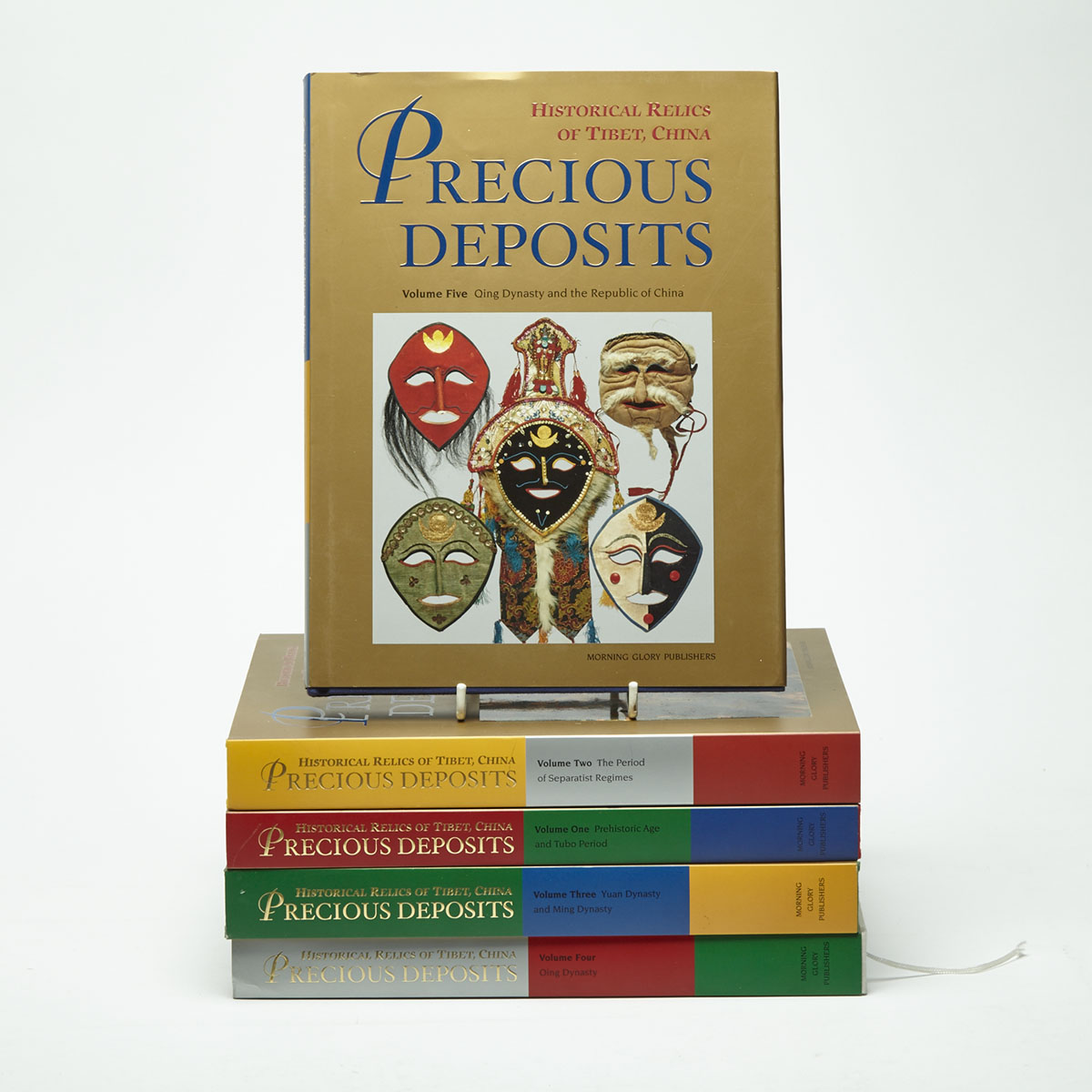 "Five Volumes of ""Precious Deposits: Historical Relics of Tibet, China"""