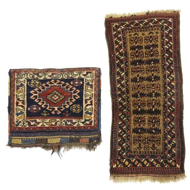 Luri Double Bag Face, early 20th century together with a Balouch Pillow Cover, mid 20th century