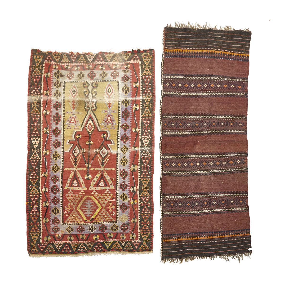 Two Kelim Rugs, mid 20th century